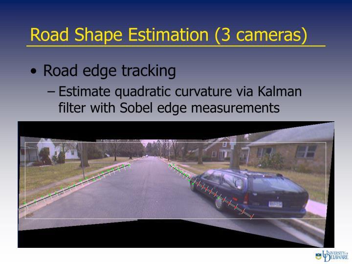 Road Shape Estimation (3 cameras)