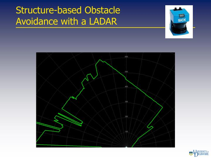 Structure-based Obstacle                  Avoidance with a LADAR