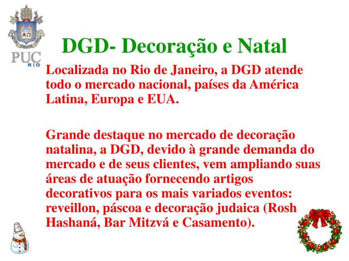 DGD- Decoração e Natal