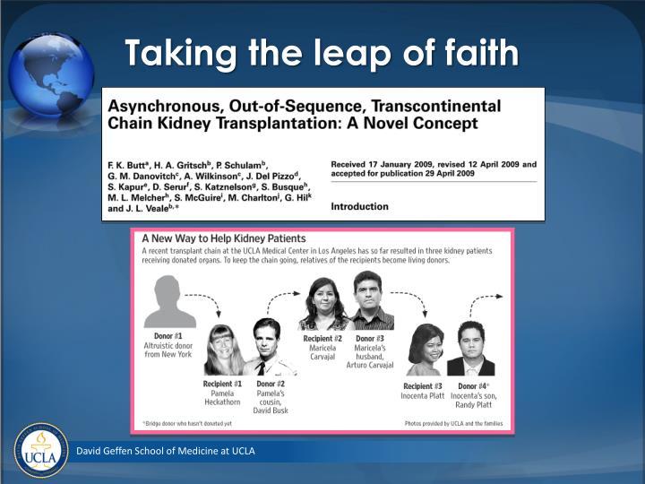 Taking the leap of faith