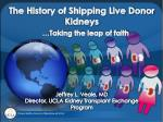 the history of shipping live donor kidneys taking the leap of faith