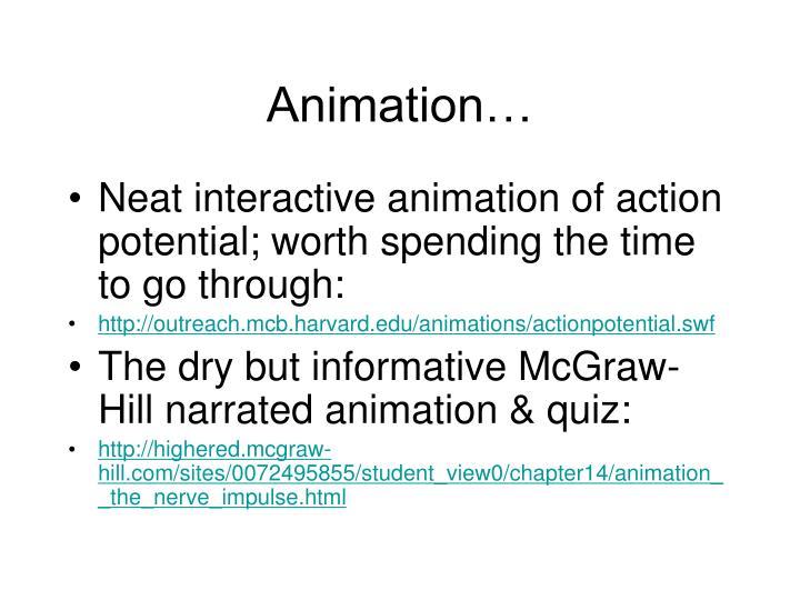 Animation…