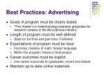 best practices advertising