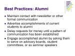 best practices alumni