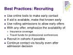best practices recruiting