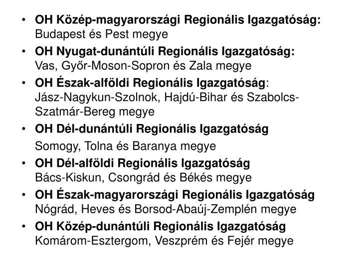 OH Közép-magyarországi Regionális Igazgatóság: