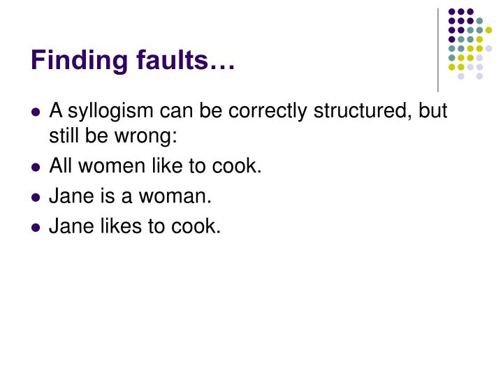 Finding faults…