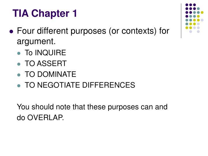 TIA Chapter 1