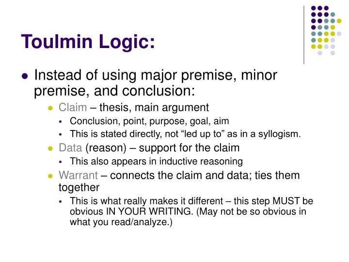 Toulmin Logic: