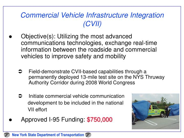 Commercial Vehicle Infrastructure Integration (CVII)