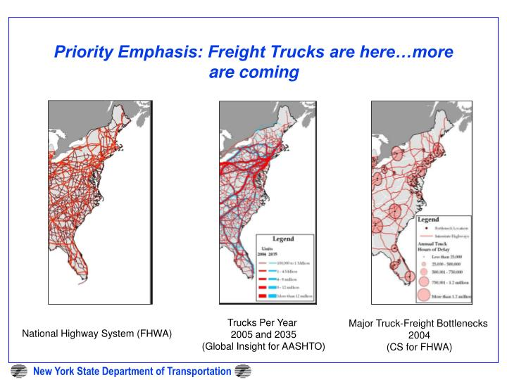 Priority Emphasis: Freight Trucks are here…more are coming