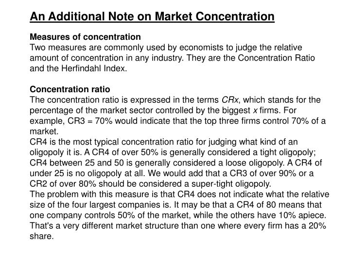 An Additional Note on Market Concentration