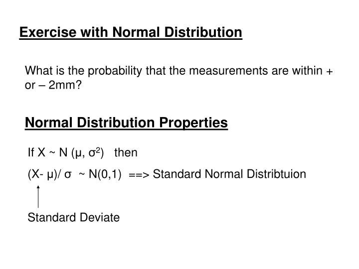 Exercise with Normal Distribution