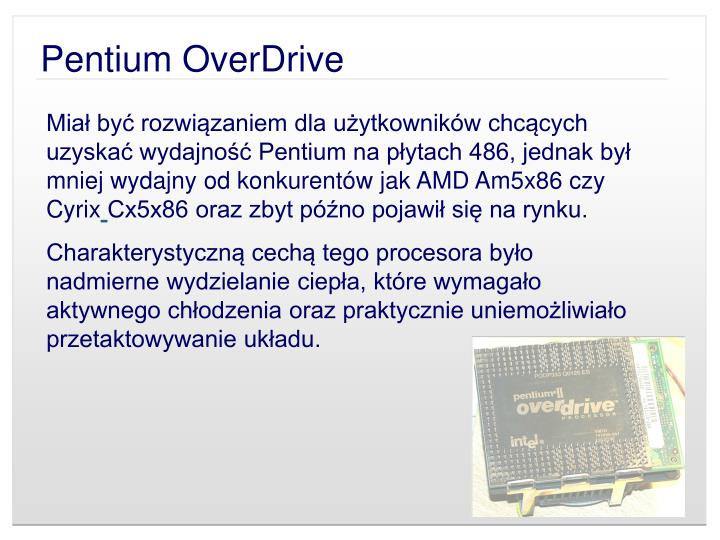 Pentium OverDrive