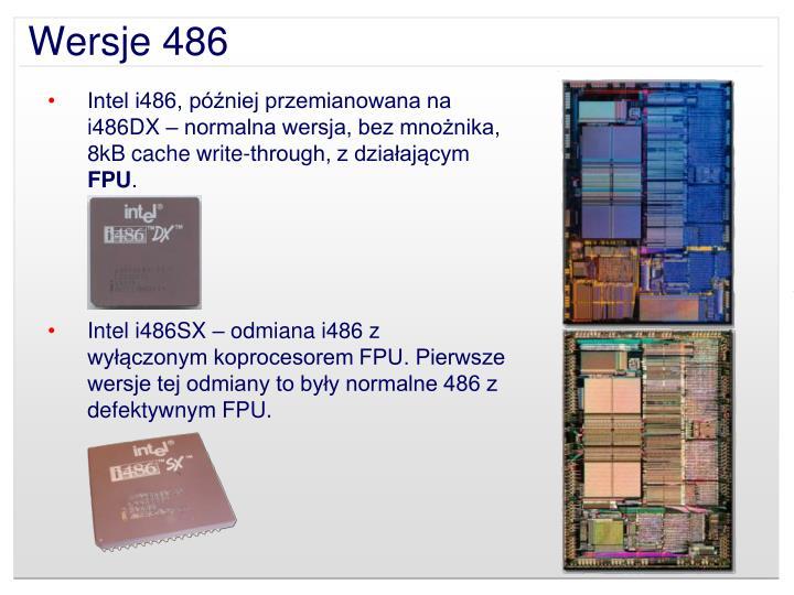 Wersje 486