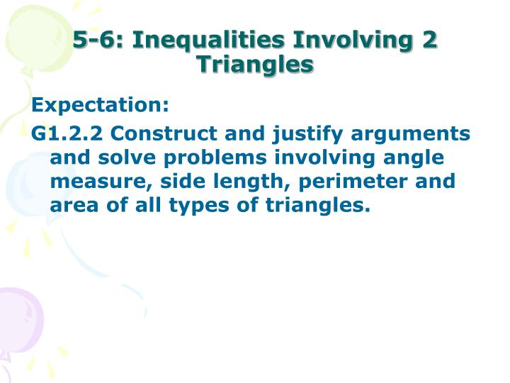 5 6 inequalities involving 2 triangles