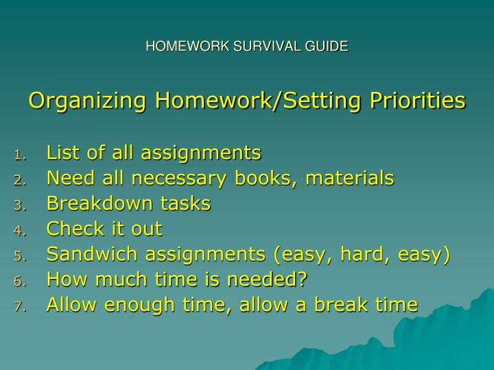 Homework survival guide1
