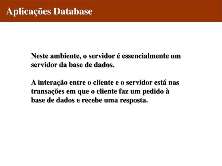 Aplicações Database