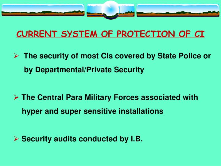 CURRENT SYSTEM OF PROTECTION OF CI
