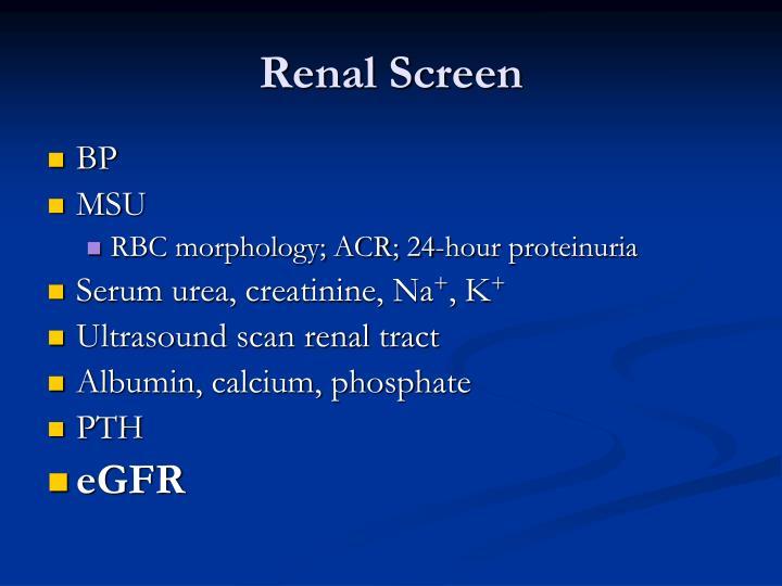Renal Screen