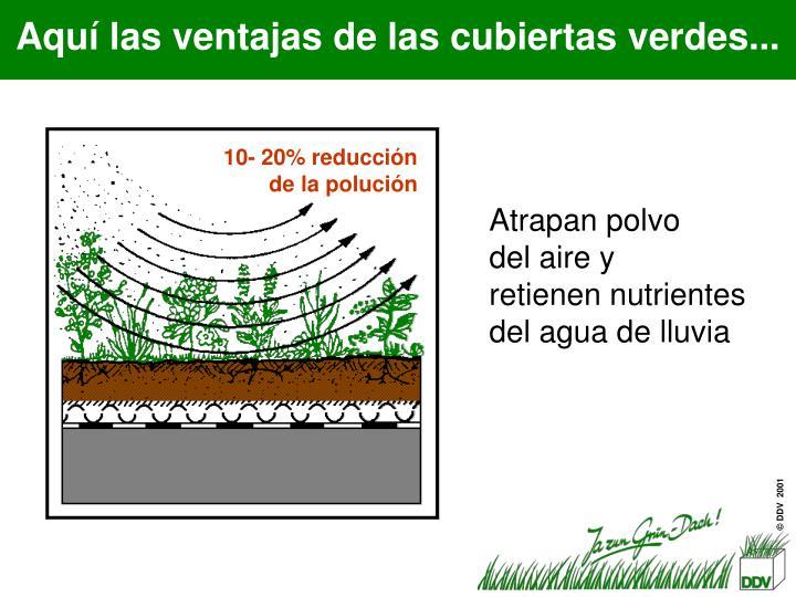 10- 20% reducción de la polución