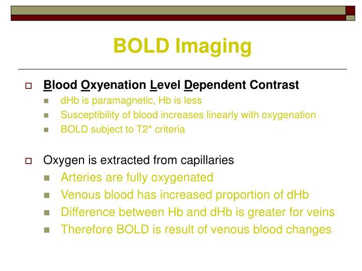 BOLD Imaging