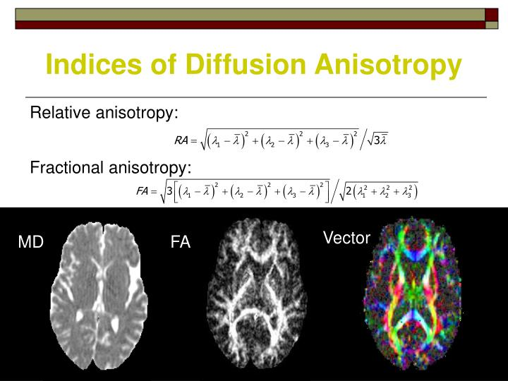 Indices of Diffusion Anisotropy