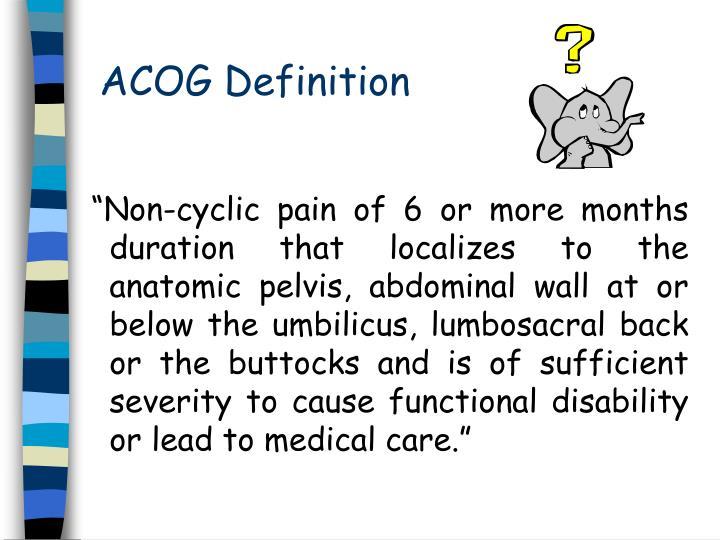 ACOG Definition
