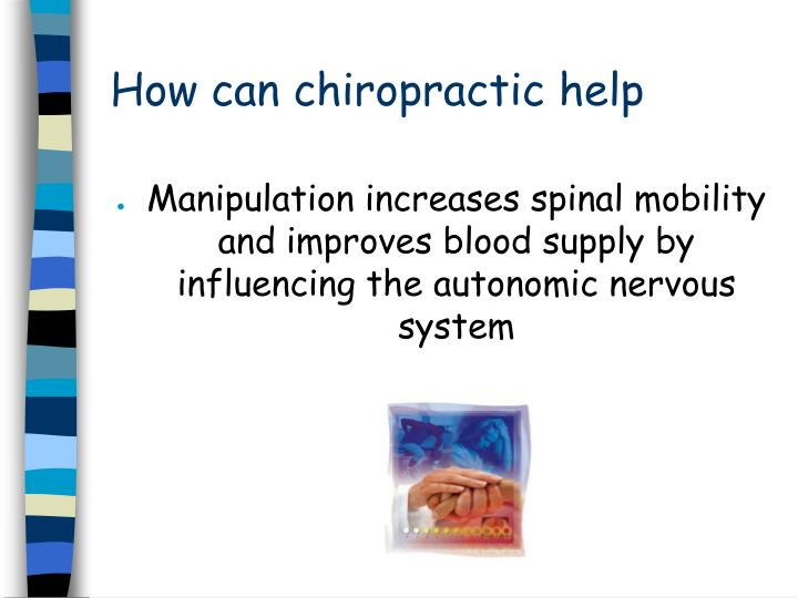 How can chiropractic help