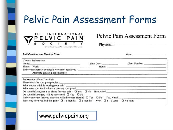 Pelvic Pain Assessment Forms