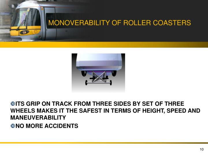 MONOVERABILITY OF ROLLER COASTERS