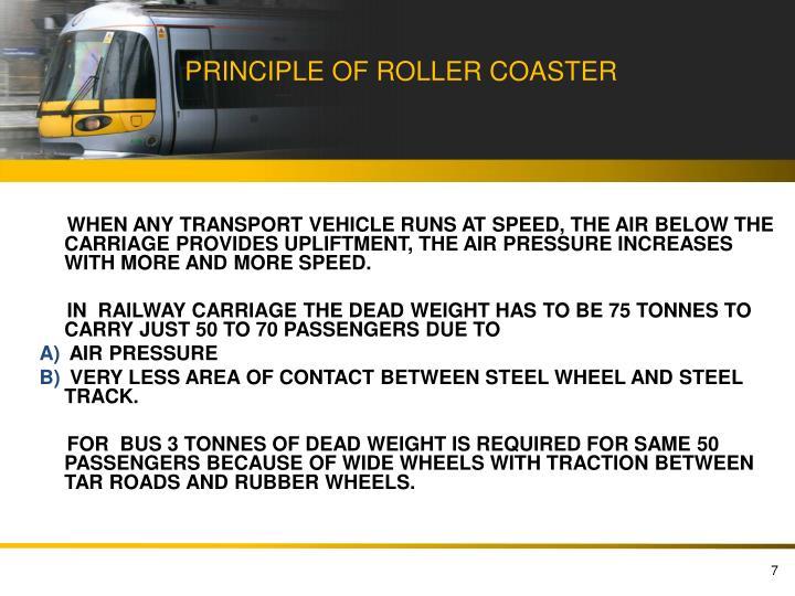 PRINCIPLE OF ROLLER COASTER