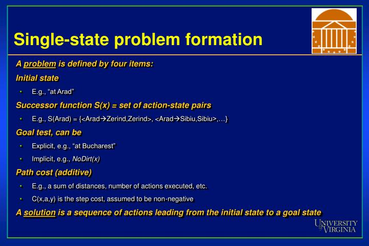 Single-state problem formation
