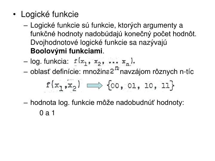 Logické funkcie