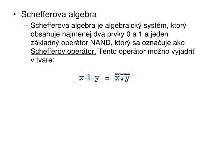 Schefferova algebra