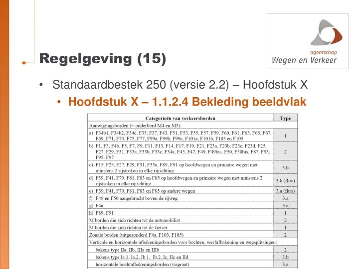 Regelgeving (15)