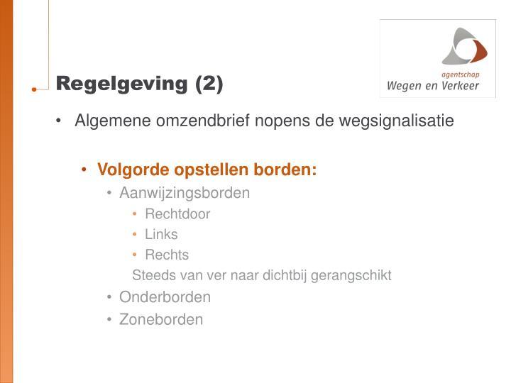 Regelgeving (2)