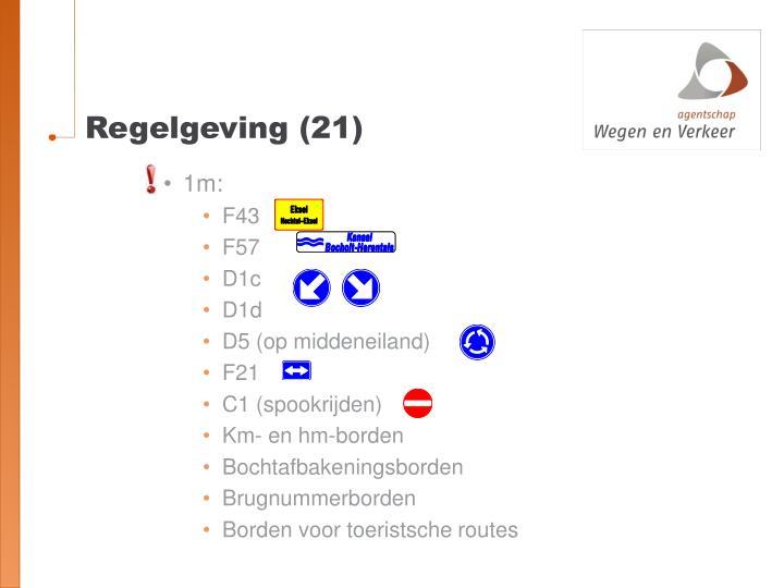 Regelgeving (21)