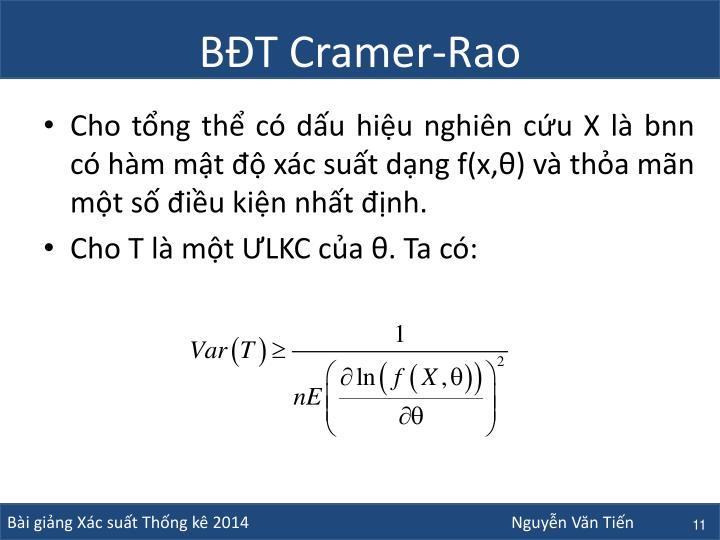 BĐT Cramer-