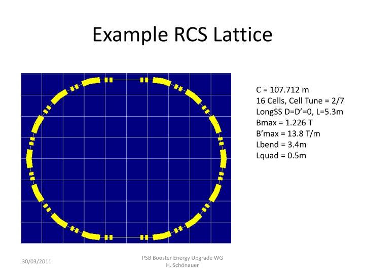 Example RCS Lattice