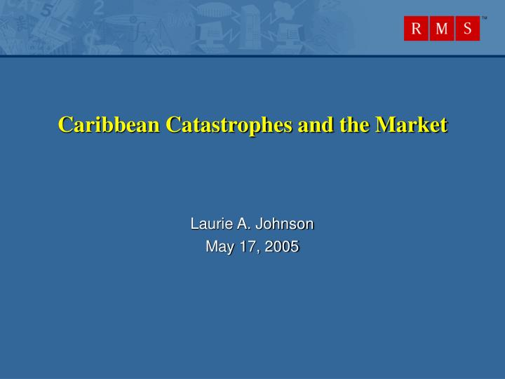 Caribbean catastrophes and the market