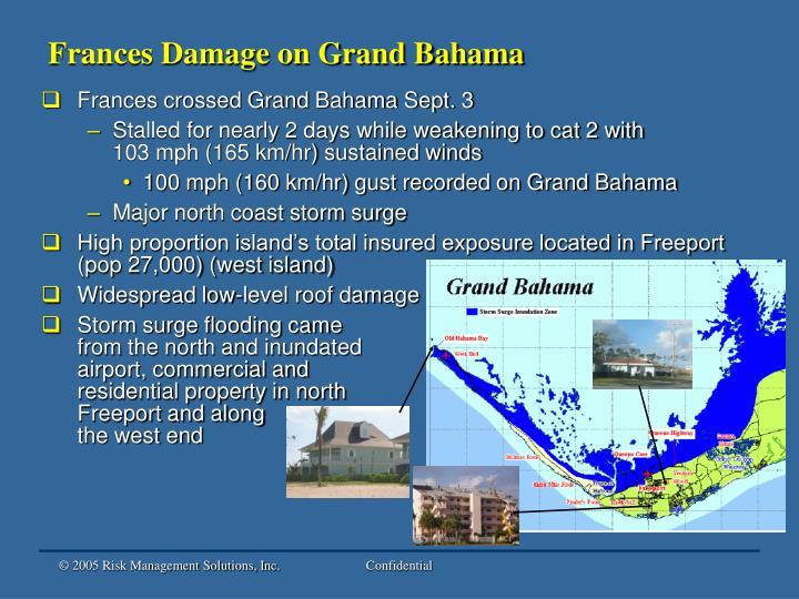 Frances Damage on Grand Bahama