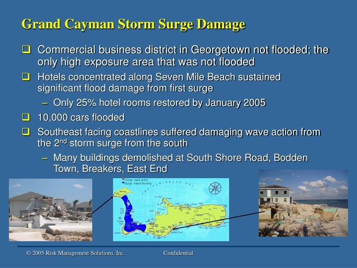Grand Cayman Storm Surge Damage