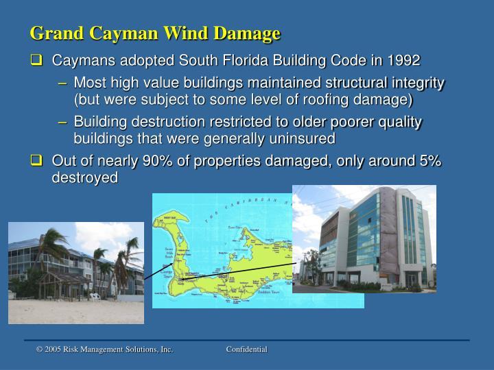 Grand Cayman Wind Damage