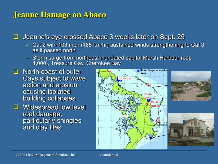Jeanne Damage on Abaco