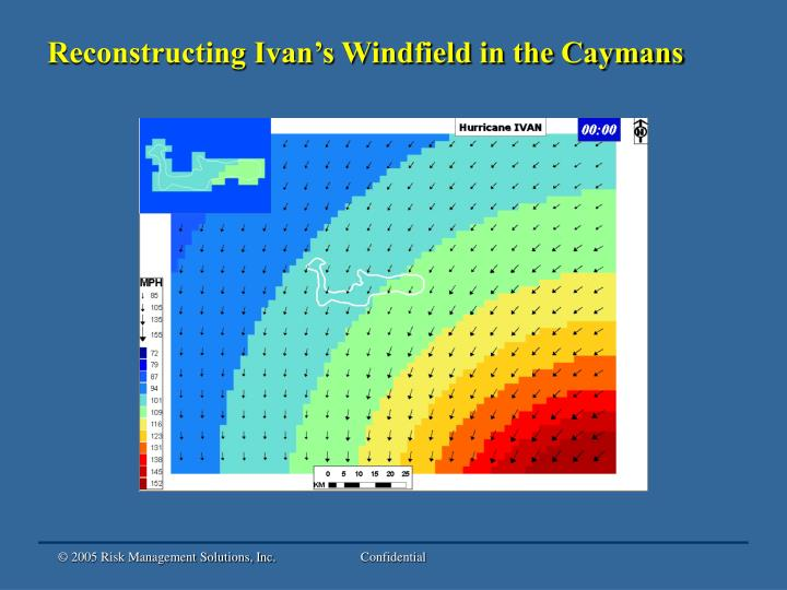Reconstructing Ivan's Windfield in the Caymans