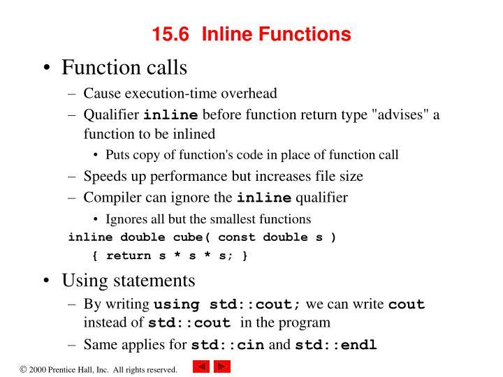 15.6Inline Functions