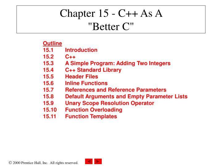 Chapter 15 c as a better c
