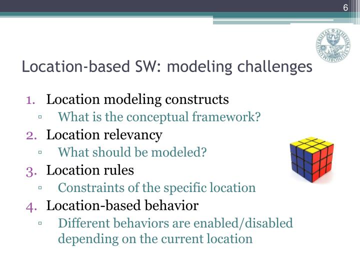 Location modeling constructs
