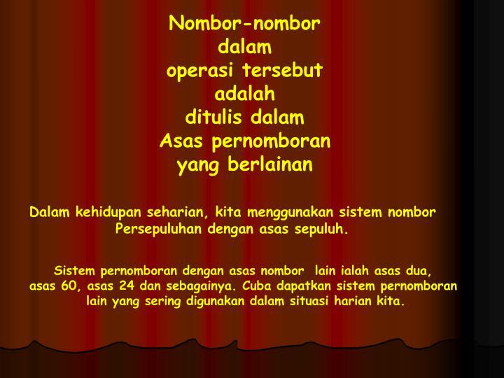 Nombor-nombor